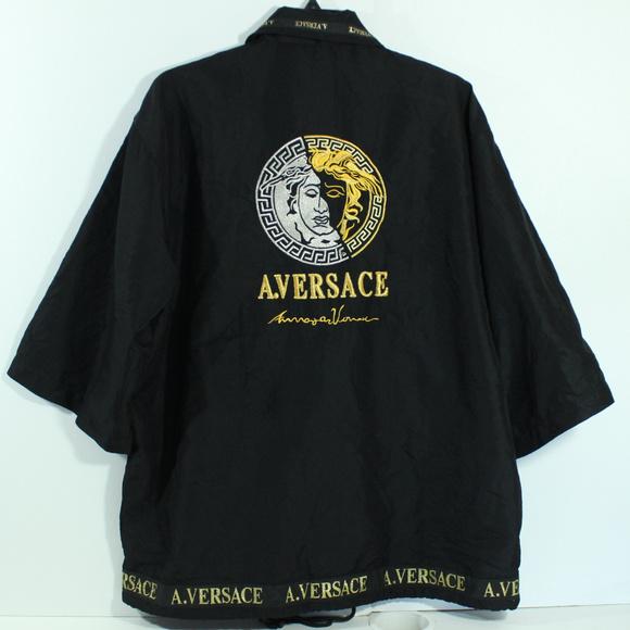 VTG A. Versace Kimono Jacket (Diffusion Line) 5419b05e4c157